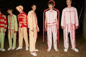 Models in Craig Green's innovative designs last year.