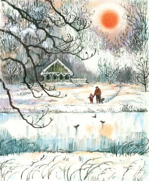 Illustration from Snow in the Garden: A First Book of Christmas by Shirley Hughes