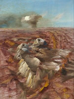 Central Desert: Atomic Test, by Sidney Nolan.