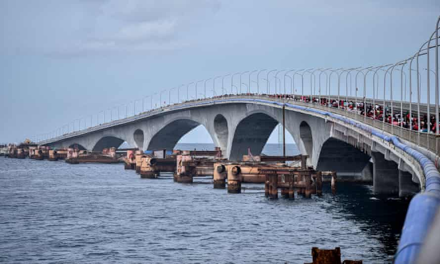The Sinamale bridge, which connects Malé with Velana international airport was financed with $126m grant from China.