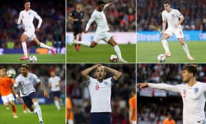 England's pluses and minuses: Trent Alexander-Arnold (top left), Joe Gomez and Harry Winks as well as Kyle Walker (bottom left), Harry Kane and John Stones
