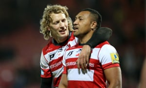 Billy Twelvetrees (left) kicked 10 points and David Halaifonua scored a try as Gloucester defeated Sale.