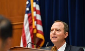 Adam Schiff listens to testimony Joseph Maguire at the House permanent select committee on intelligence in Washington DC.