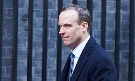 Dominic Raab leaving 10 Downing Street