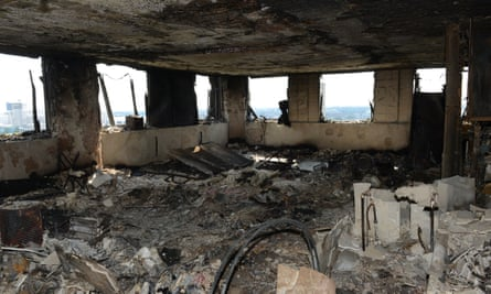 The inside of an apartment in Grenfell Tower.