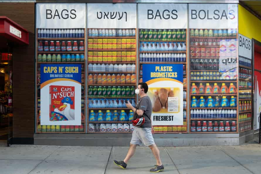 The exterior of The Plastic Bag Store in New York City's Times Square in October 2020.