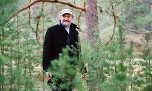 Estonian composer Arvo Pärt in his home forest in Laulasmaa, Estonia