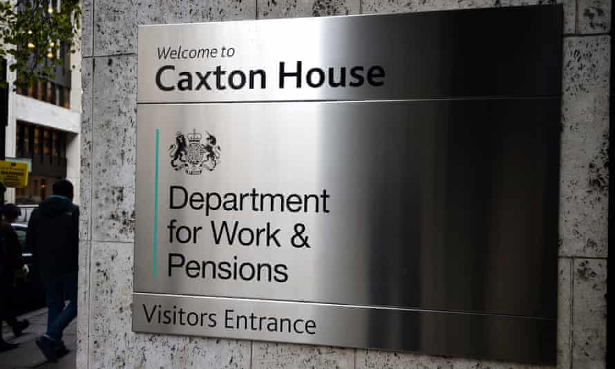 Department for Work and Pensions sign