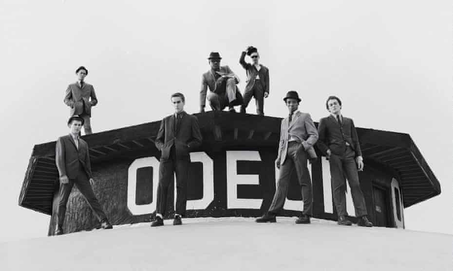 The Specials on the roof of a cinema during the photoshoot for their eponymous 1979 debut album