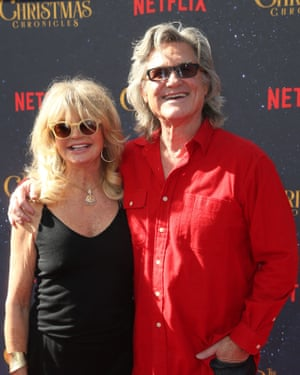 Hawn with Kurt Russell in 2018.