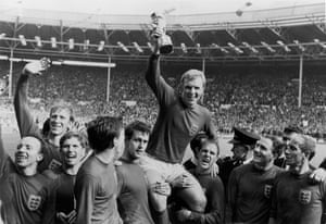 He was part of the England team that won the 1966 World Cup by beating West Germany. Pictured here waving to fans.