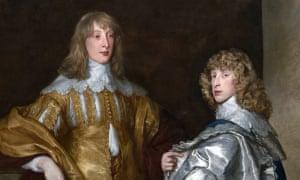 Brothers Lord John Stuart and Lord Bernard Stuart wearing lace collars, by Anthony van Dyck c.1638.