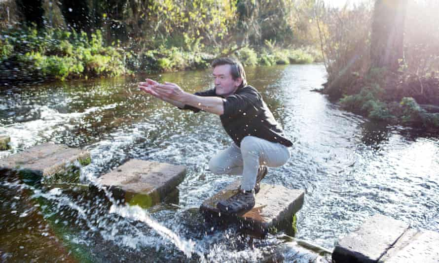 Feargal Sharkey on the River Lea in Hertfordshire.
