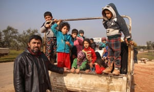Russia-backed regime forces have pounded Syria's last major rebel bastion over the past two months, forcing more than 580,000 people from their homes and onto the roads.