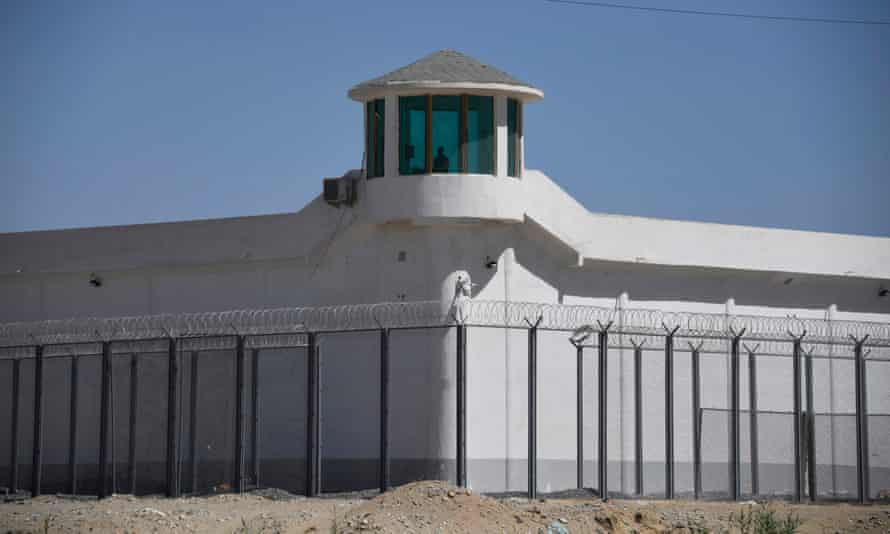 A high-security facility near what is believed to be a re-education camp on the outskirts of Hotan, in Xinjiang.
