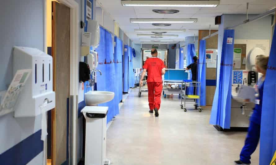 An NHS hospital ward.
