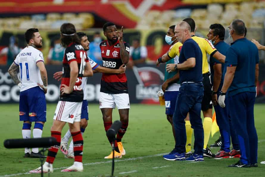 Former Brazil manager Mano Menezes was sacked by Bahia after their game against Flamengo.