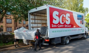 ScS reopened all their 81 shops in England after the first lockdown and a sofa was being delivered in Slough, Berkshire, on 28 May 2020