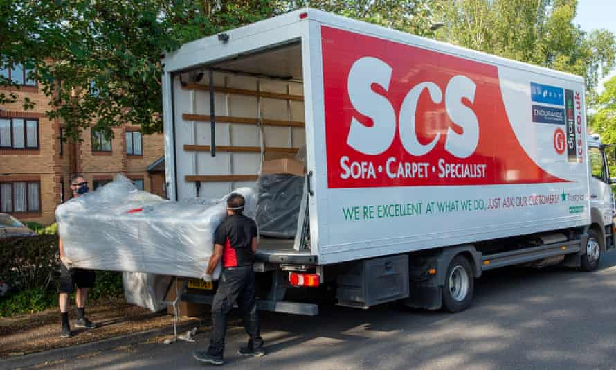 An ScS sofa is delivered