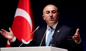 The Turkish foreign minister, Mevlut Cavusoglu: 'If you do not protect them or provide air support, what is the point?'