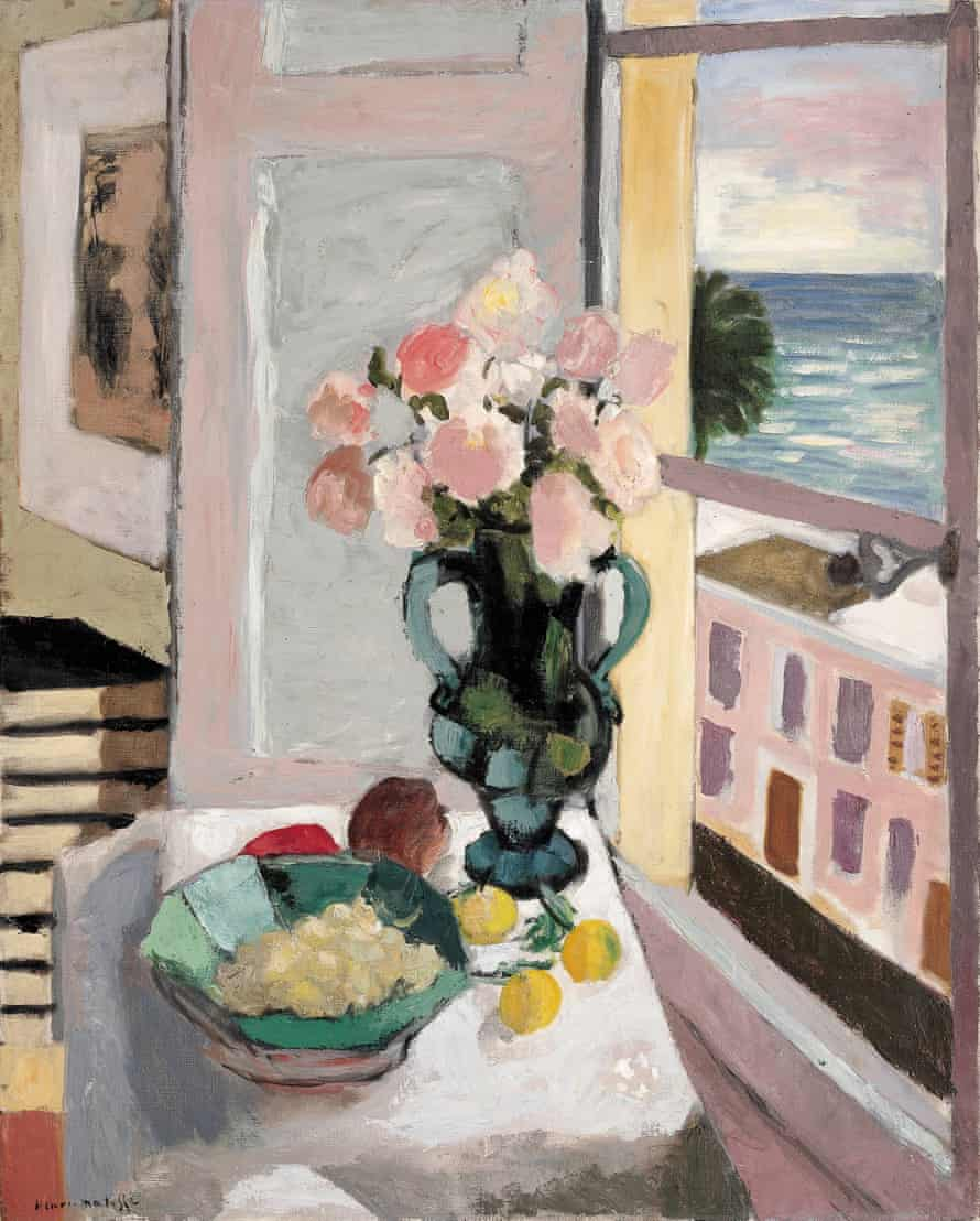 The Safrano Roses at the Window, 1925 by Mattise.