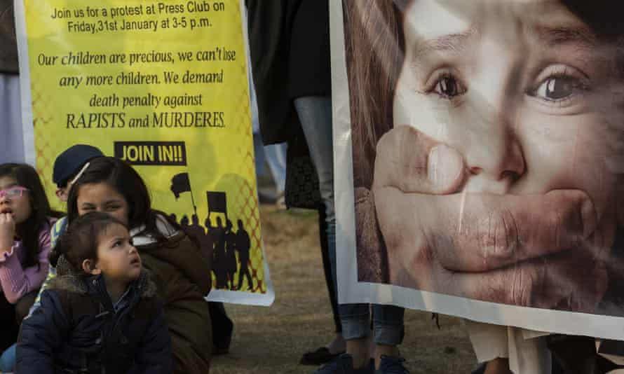 Pakistani children take part in rally against child abuse, in Islamabad, Pakistan