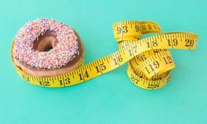 Doughnut and tape measur