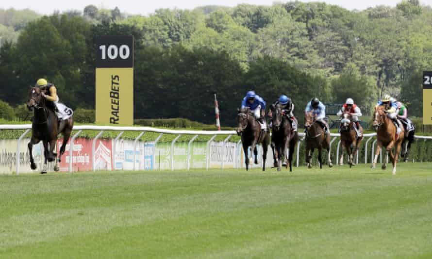 Novemba, with Sibylle Vogt on board, strides ahead of the field to win the German 1,000 Guineas in Dusseldorf in May.