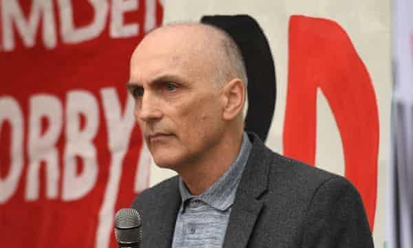 MP Chris Williamson addresses a Labour rally.