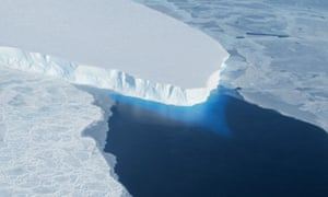 Thwaites glacier in western Antarctica.