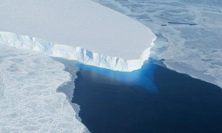 Nasa image of Thwaites glacier in western Antarctica.