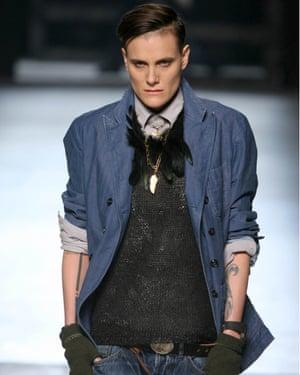 Legler at the Michael Bastian show at New York fashion week, 2013.
