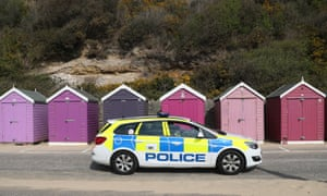 A police car at Bournemouth beach