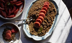 Lentils with Italian sausage
