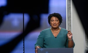 Stacey Abrams in Atlanta, Georgia, on 20 May 2018. As far back as last November, Joe Biden floated four possible running mates, including Abrams.