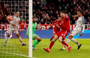 Matip scores an own goal and Bayern's equaliser.