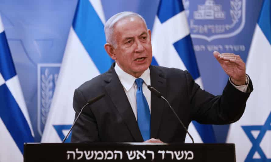 Benjamin Netanyahu speaking last week. Israel has a policy of deliberate ambiguity about its nuclear arsenal.