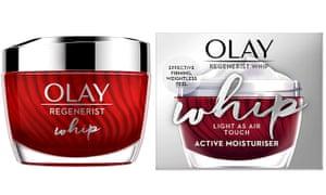 Olay's Regenerist Whip moisturiser