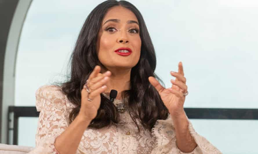Salma Hayek at the Women in Motion talk at the Cannes film festival on Sunday