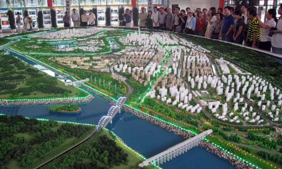 The model of the £24bn Sino-Singapore Tianjin Eco-city, located 90 miles south-east of Beijing.