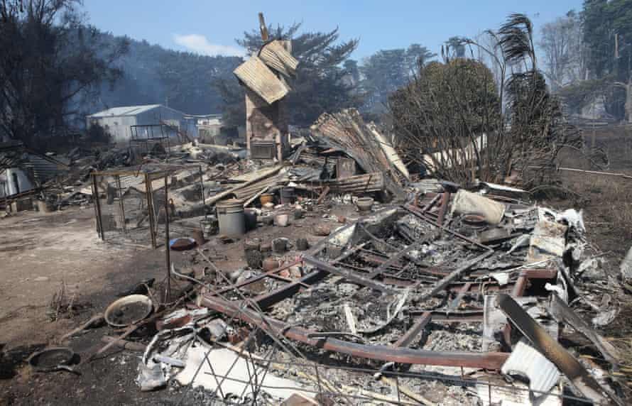 Cobden house destroyed