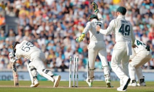 England's Ben Stokes reacts after being bowled by Australia's Nathan Lyon.