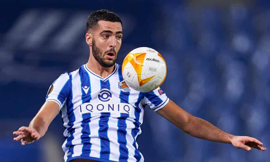 Mikel Merino in action for Real Sociedad in the Europa League this season. 'We have a playing style that's nice for fans and we love,' he says.