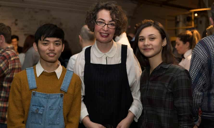 'Exile has a collective voice': poet Kate Clanchy with two Oxford Spires pupils