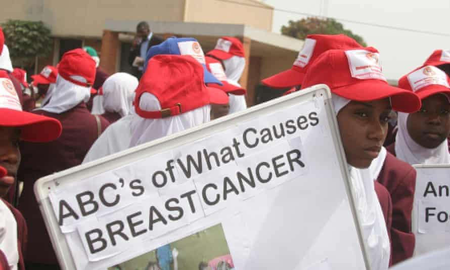 A cancer awareness campaign in Kaduna, Nigeria