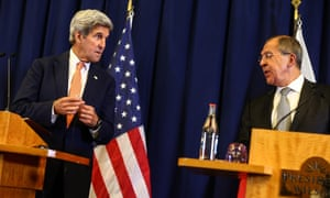 Sergei Lavrov and John Kerry announced the tentative ceasefire agreement in Geneva.