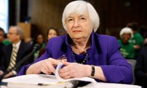 Federal Reserve Chair Janet Yellen prepares to speak at the Senate