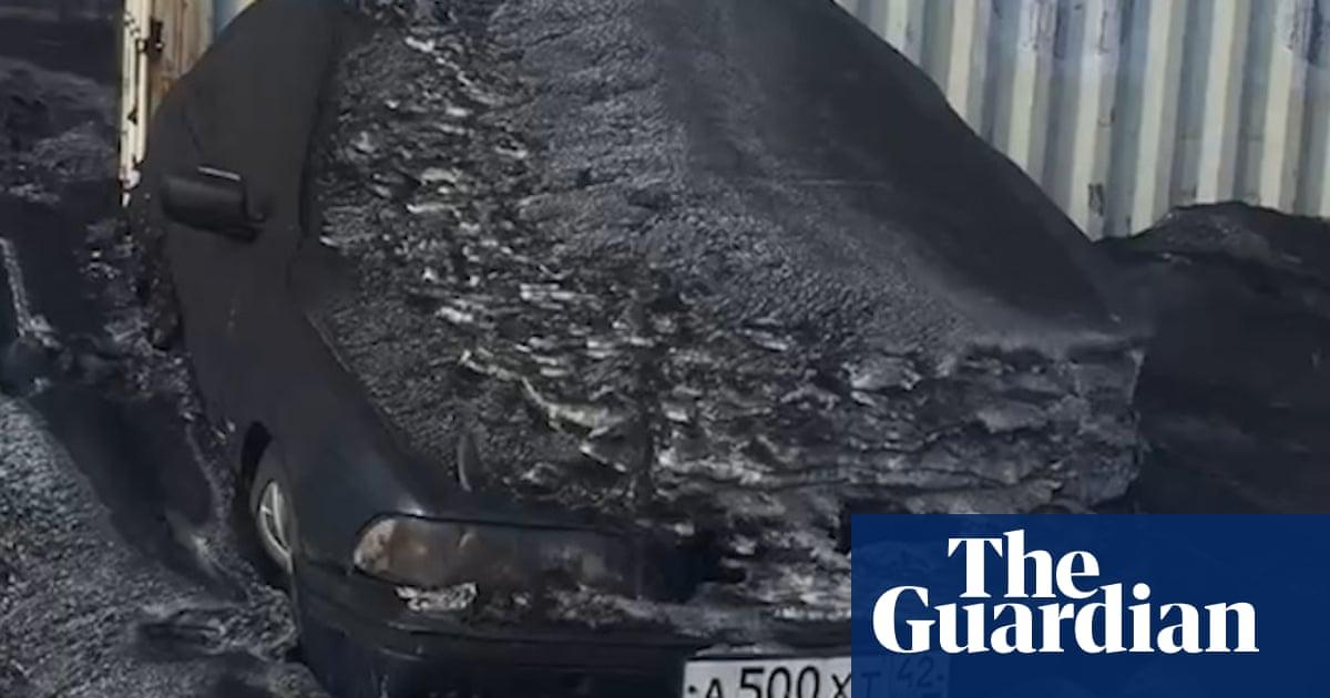 Toxic black snow covers Siberian coalmining region