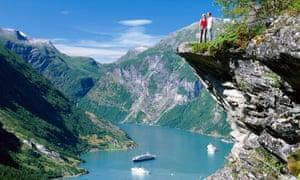 Beautiful fjord in Norway