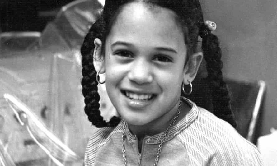 Kamala Harris as a child in California.